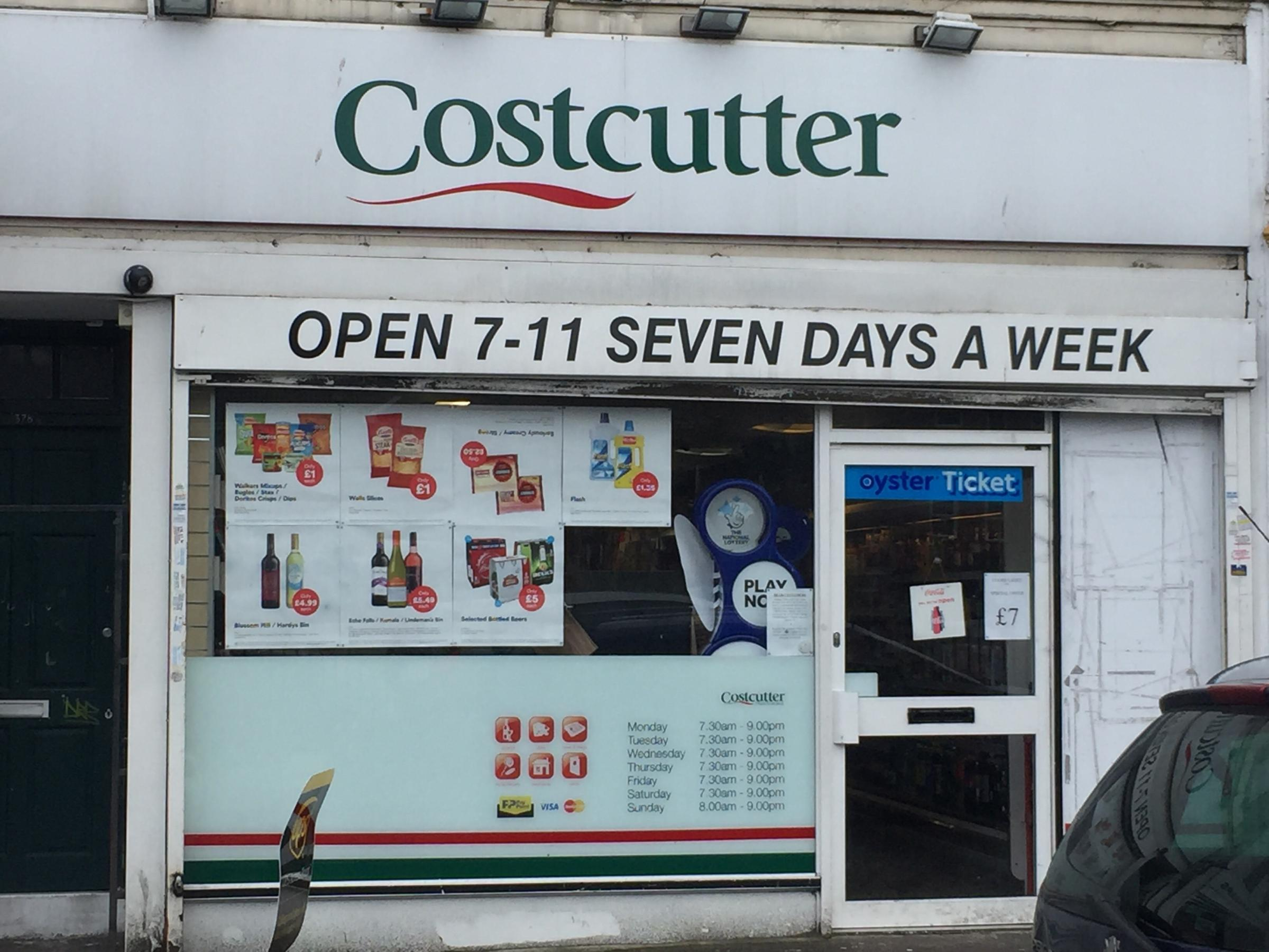 Costcutter convenience store in Middleton Road