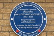 'Lovelies' gather for George Michael plaque unveiling at his former school