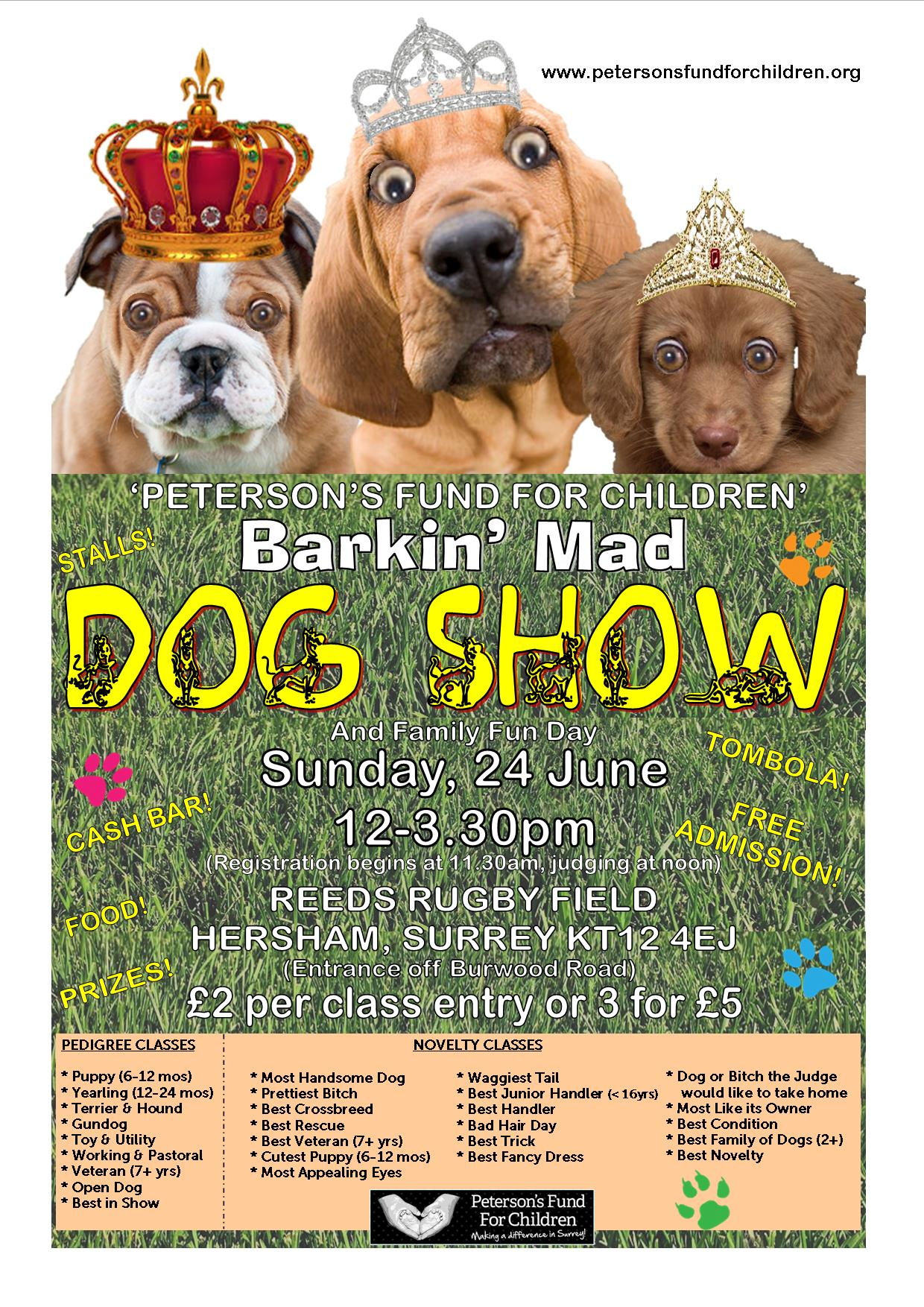 Peterson's Fund For Children Barkin' Mad Dog Show and Family Fun Day!