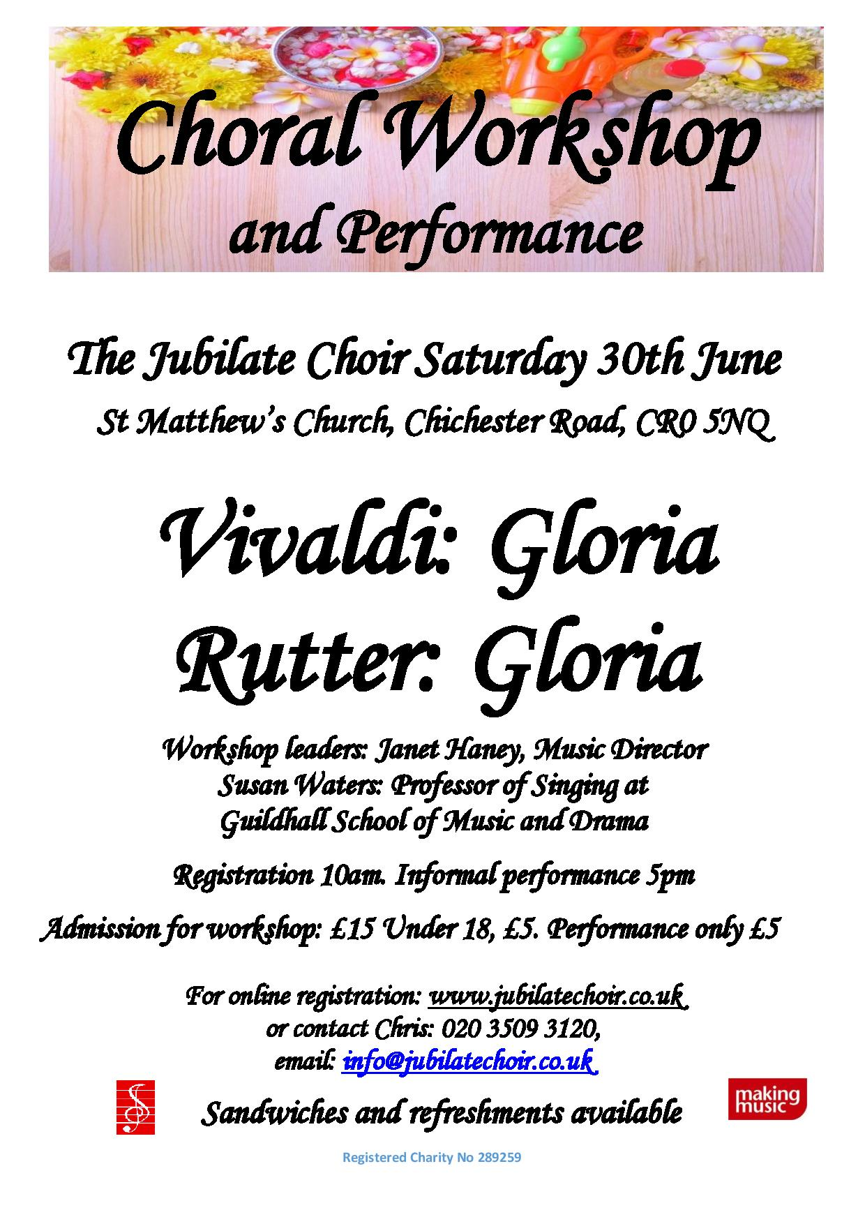 Jubilate Choir Choral Workshop