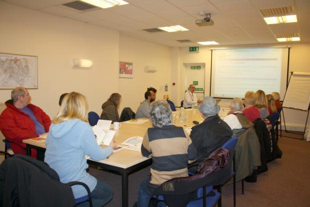 Sutton Guardian: Residents taking part in a money saving session